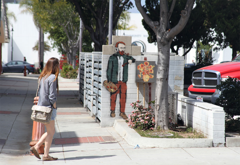 Snyder in Oceanside, California for Van Gogh's birthday.