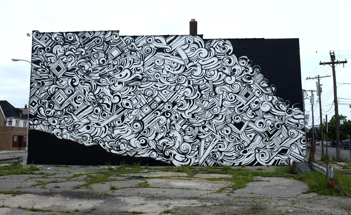 REYES for Detroit Beautification Project.  Via Revok.