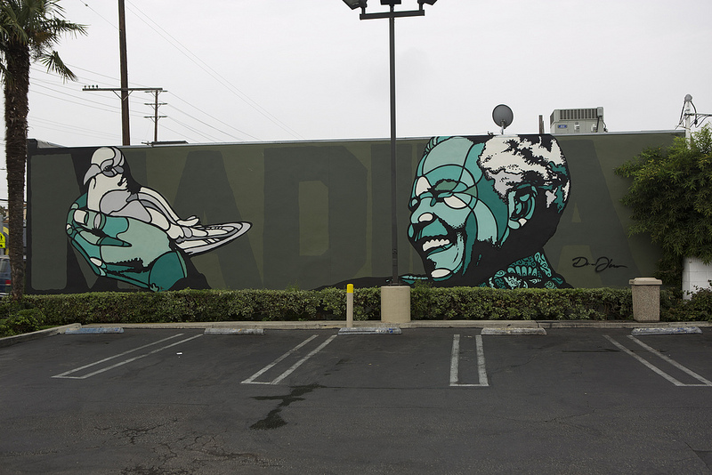"David Flores - ""Nelson Mandela"" tribute in Los Angeles for Branded Arts."