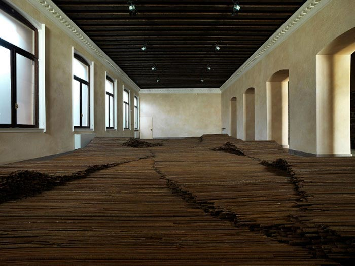 Ai Weiwei Straight, 2008-2012, Zuecca Project Space, Venice.