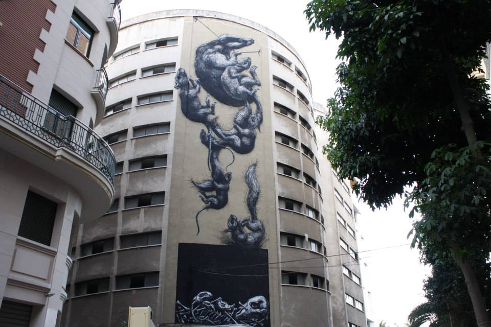 ROA in Malaga, Spain. Photo via StreetArtNews.