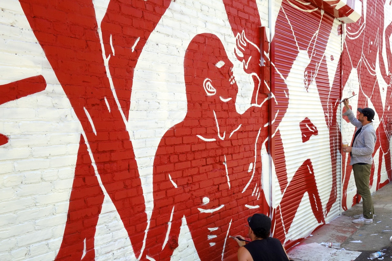 Cleon Peterson LA mural AM 01