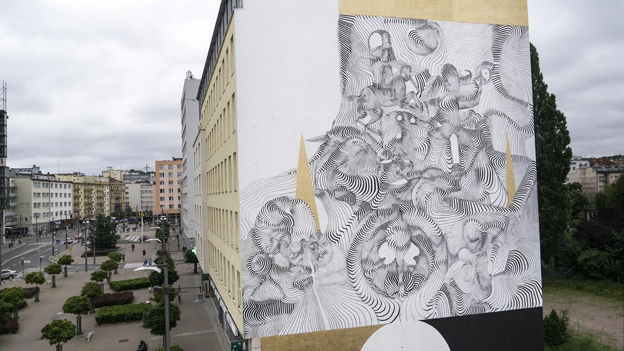 2501 for the Traffic Design Festival in Poland. Photo via Graffuturism.