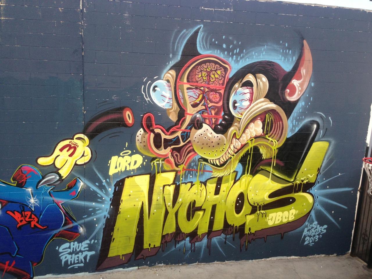 Nychos in Los Angeles. Photo via Upper Playground.