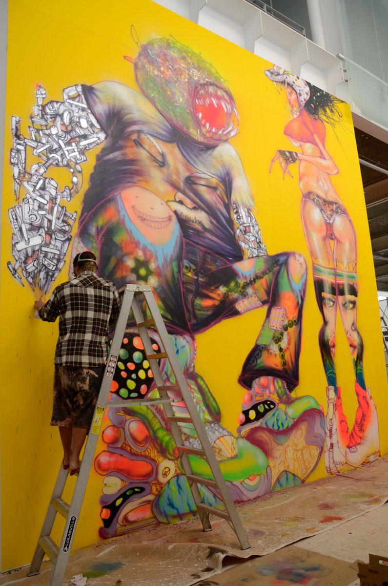 preview  david choe  u2013  u201csnowman monkey bbq u201d   museo