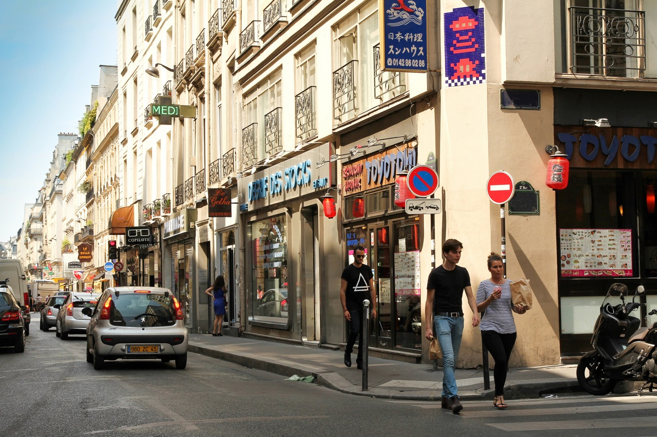 Invader in Paris. Photo by invaderblog.