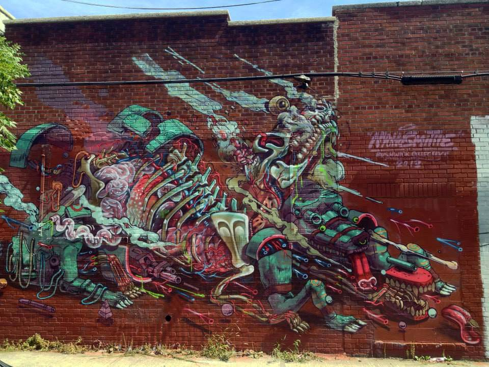 Nychos x Case in New York. Photo via StreetArtNews.