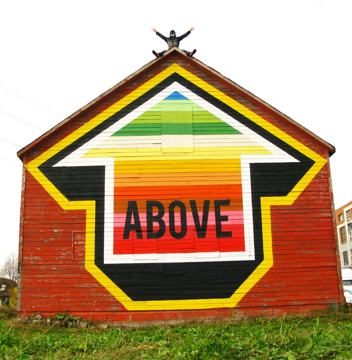 "ABOVE in Windsor, Canada painted a barn for the ""Free 4 All Walls"" project."