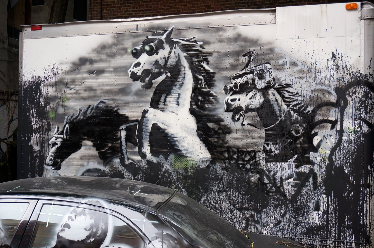 Banksy NYC Mural Crazy Horse AM 01