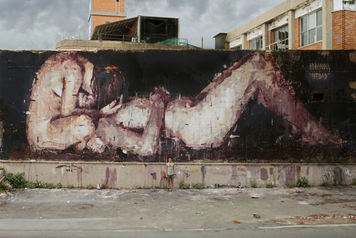 "Borondo - ""Piedad"" in Rome for the MAAM. Arranged by 999Contemporary & Metropoliz with The Blind Eye Factory and Collater.al. Photo by The Blind Eye Factory."