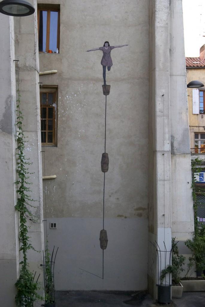 Hyuro for ¨Bienal de Arte de Perpignan¨ in Perpignan, France.
