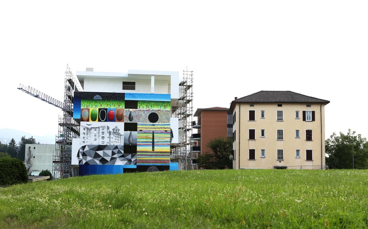 """Xuan Alyfe - """"Mirrors"""" in Lugano, Switzerland for Arte Urbana Lugano."""