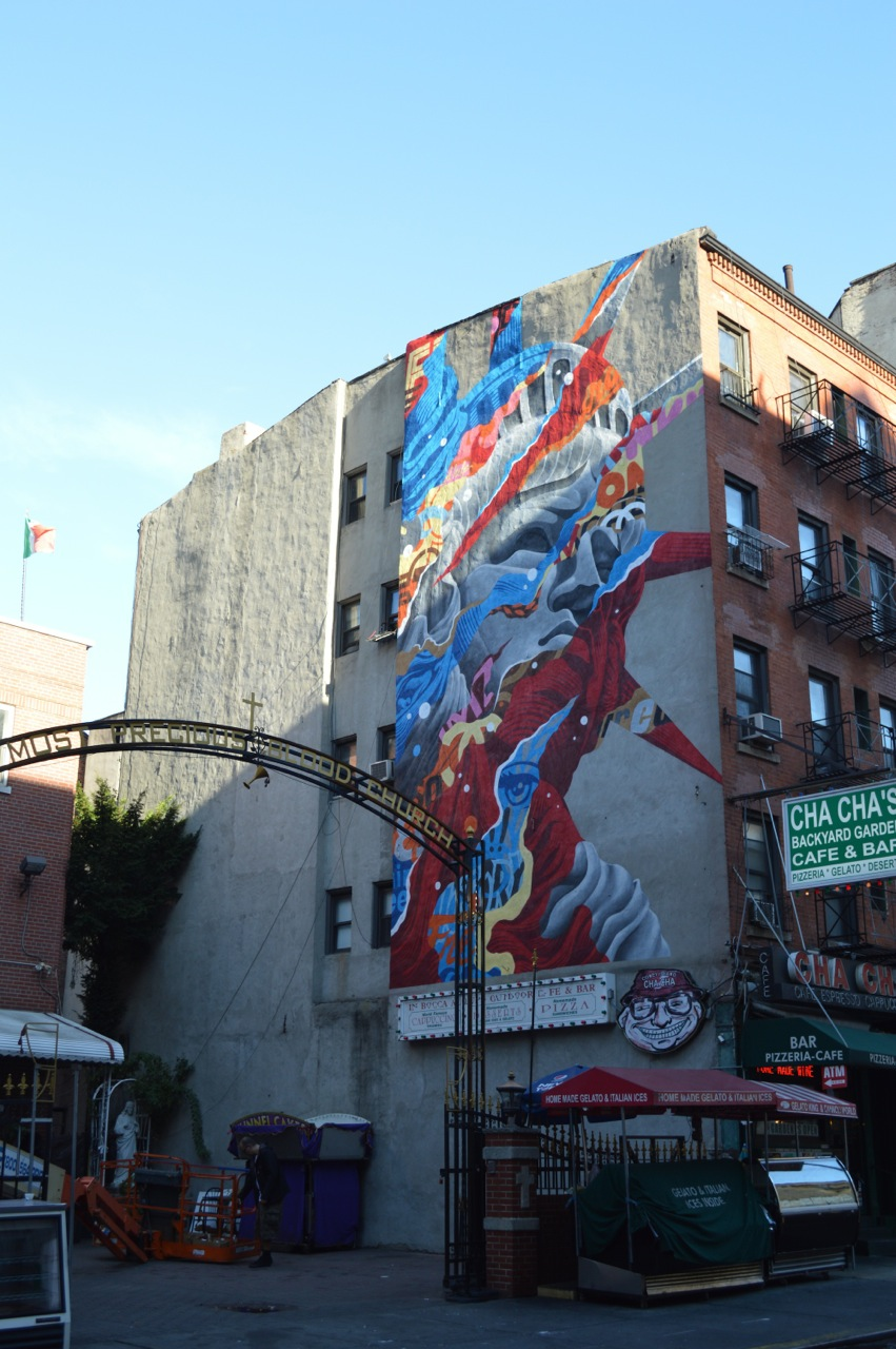 Tristan Eaton in Little Italy, New York for the L.I.S.A. Project curated by RJ Rushmore.