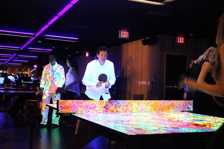 Recently, Ryan McGinness Unveiled A Custom Black Light Ping Pong Table That  He Designed For SPiN Standard At The Standard, Downtown LA.