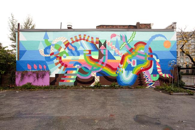 "Maya Hayuk - ""PMA"" in Toronto for Spectrum Art Projects."