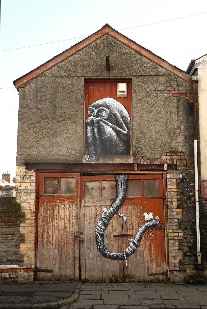 ROA for Empty walls festival in Wales. Organised by the Modern Alchemists.
