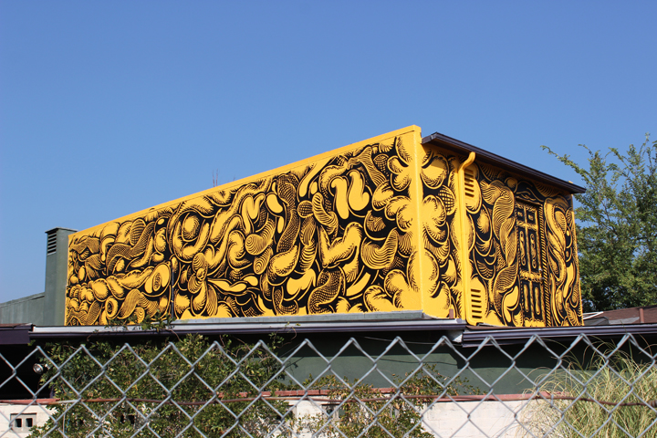 Mark Dean Veca mural at Offramp Gallery in Pasadena, California.