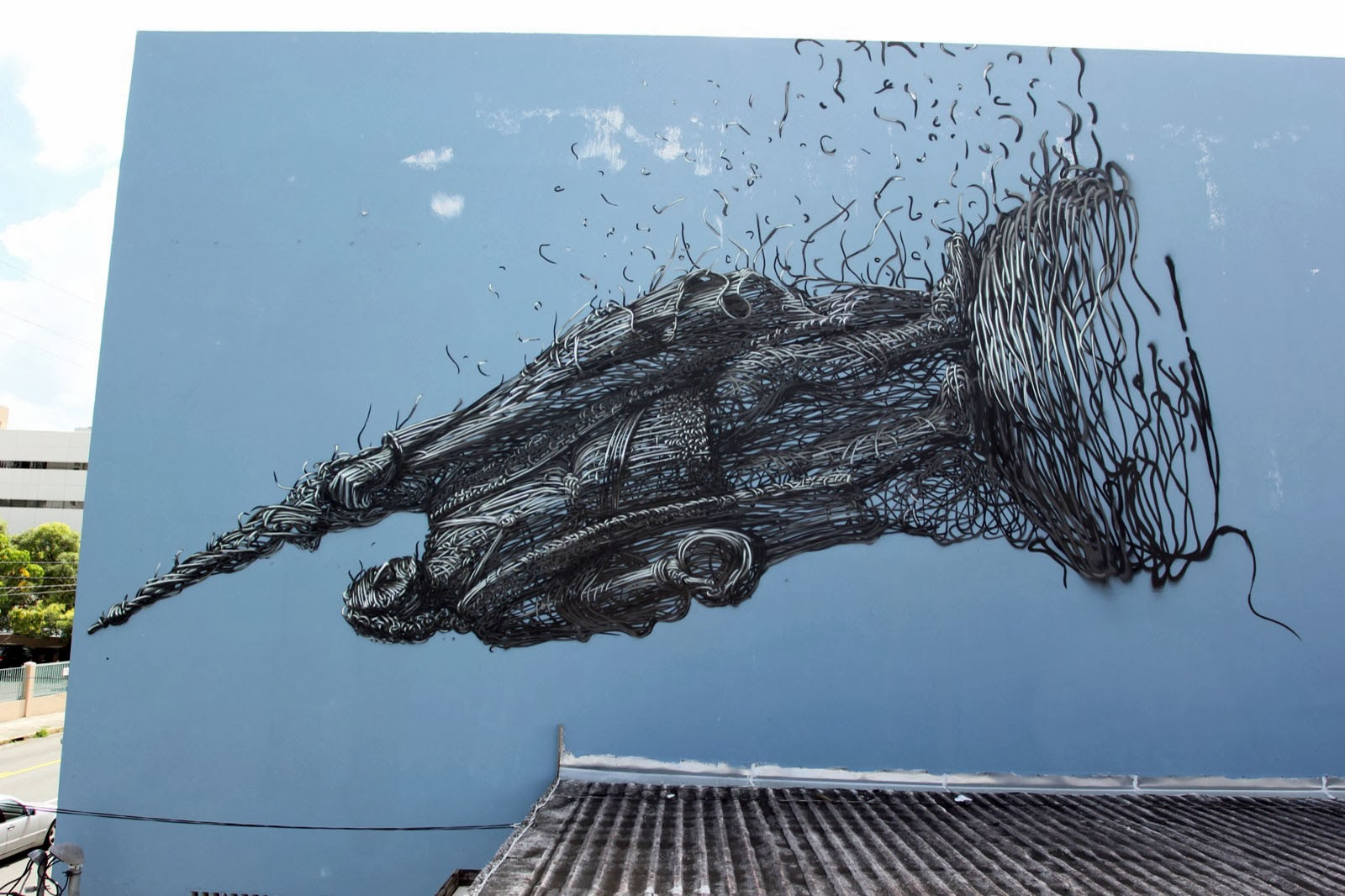 DALeast in San Juan, Puerto Rico for Los Muros Hablan. Photo via StreetArtNews.