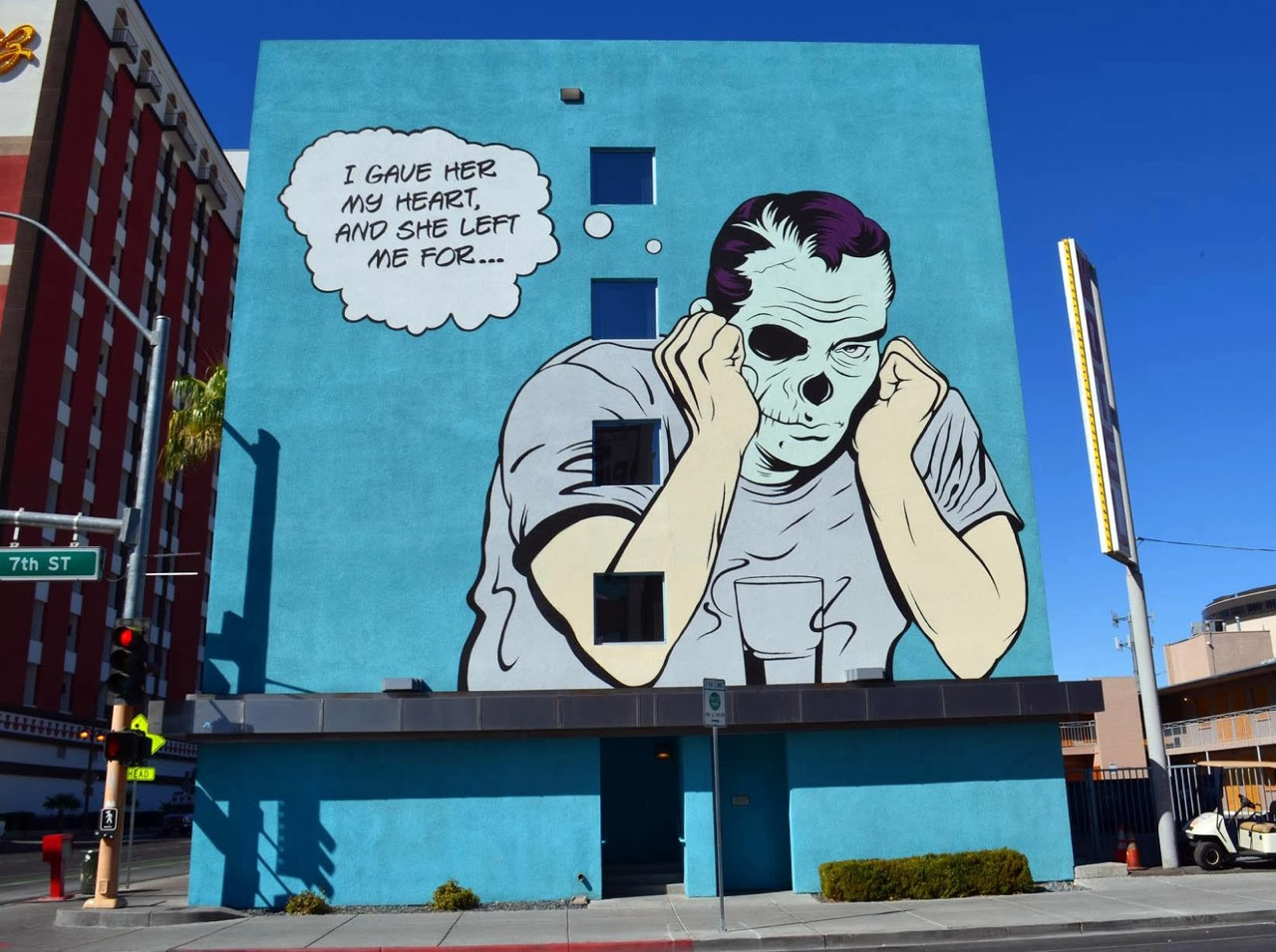 D*Face in Las Vegas for the LIfe Is Beautiful Festival. Photo via StreetArtNews.