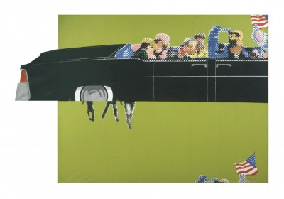 Gerald-Laing's-Lincoln-Convertible-is-the-only-known-contemporary-painting-of-the-assassination-of-JFK