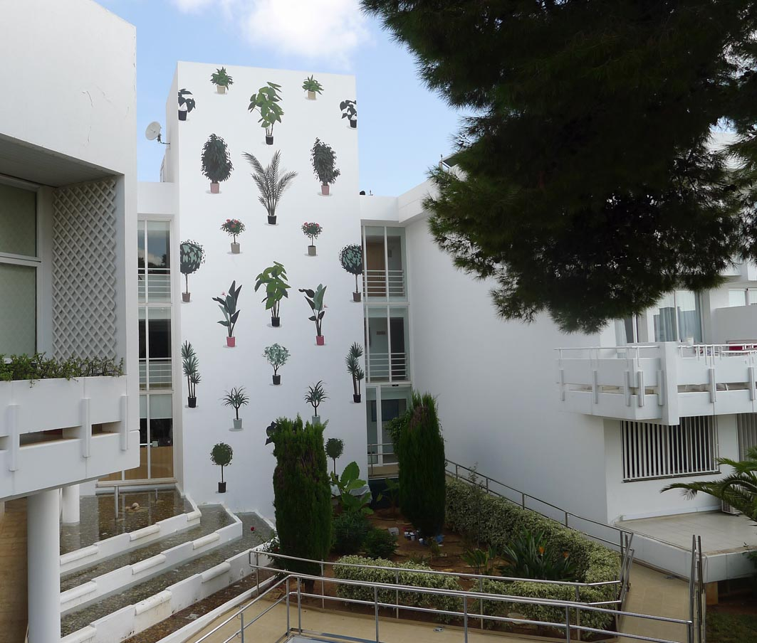 "Escif - ""Vertical Garden"" in Mallorca, Spain."