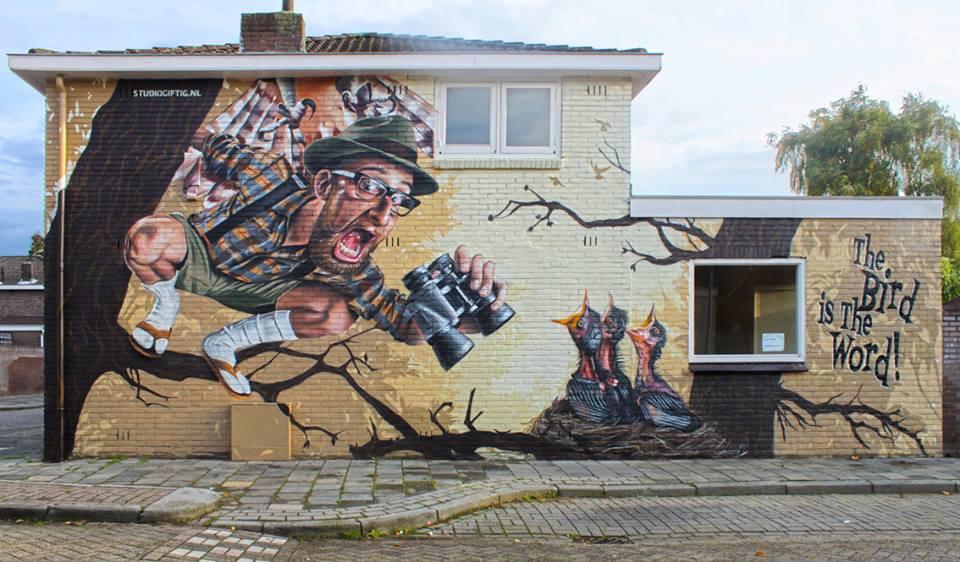 Studio Giftig in Eindhoven, Netherlands. Photo via Graffart.