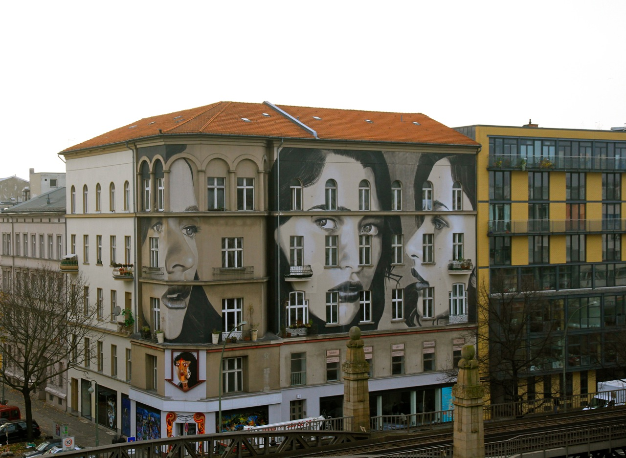"""Rone in Berlin as part of """"project M"""" (curated by Strychinin Gallery. Photo by Henrik Haven."""