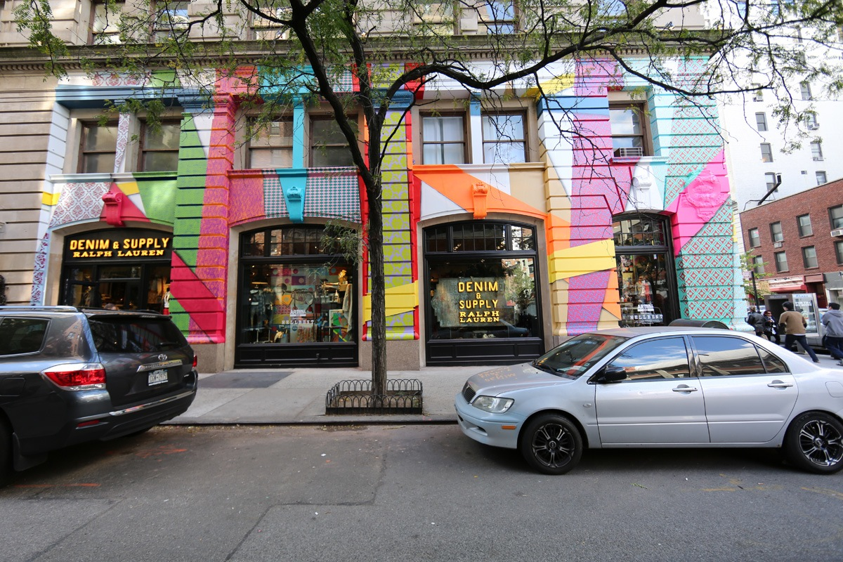 Hellbent for the Ralph Lauren Denim and Supply's Art Wall Project in Manhattan.