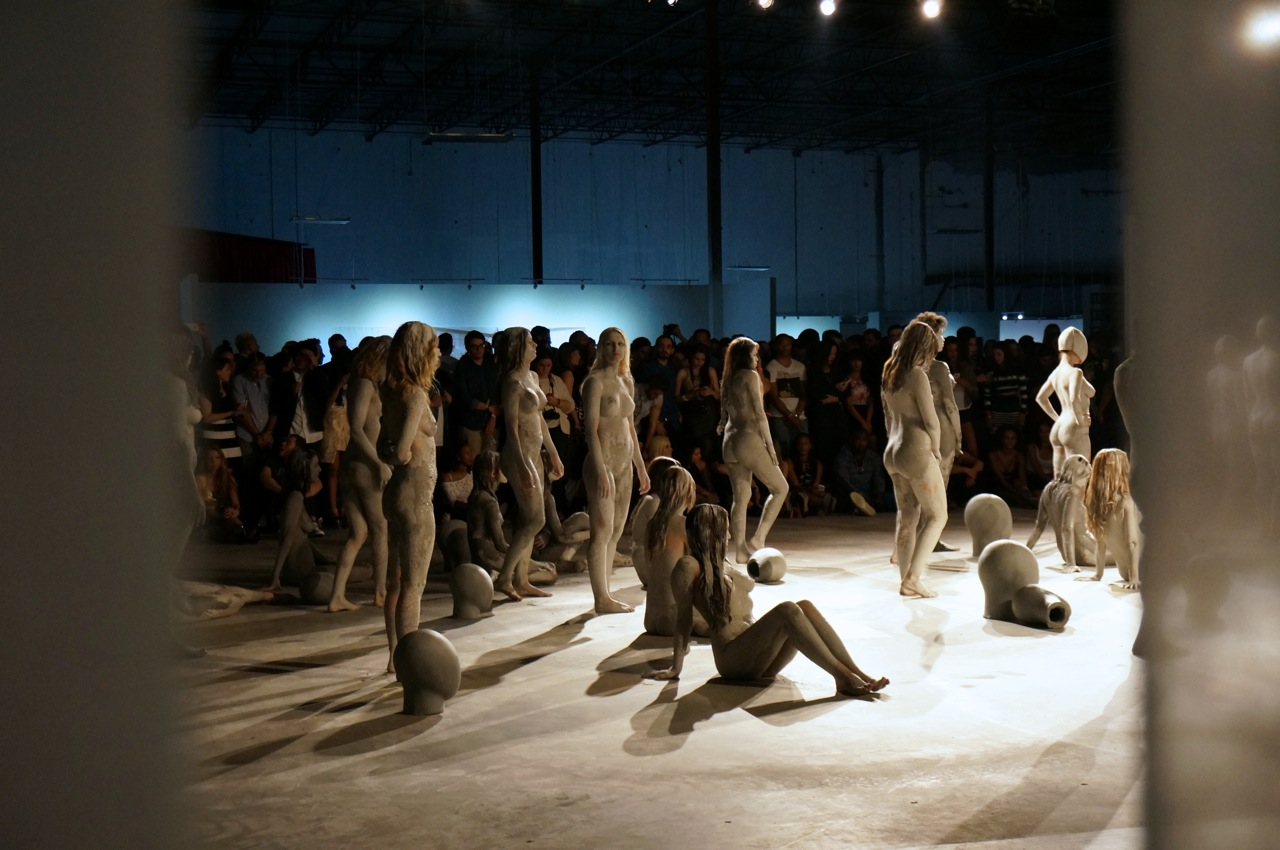 Vanessa Beecroft Kanye West Flaunt performance AM  1