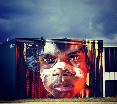 Adnate for the Hit The Bricks festival in Newcastle, Australia. Via Savage Habit.