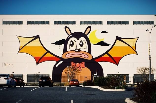 Dabs Myla for Art Yards in Washington DC. Photo by  Ian Roche.