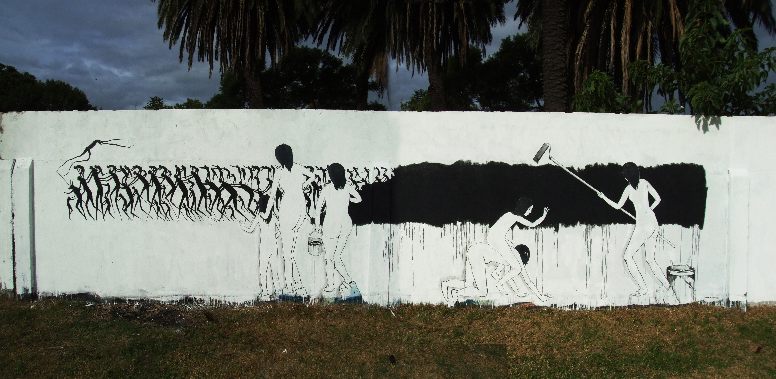 "David de la Mano wall titled ""Testamento"" painted in Montevideo, Uruguay. Photo via Wooster Collective."