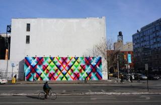 Maya Hayuk Bowery Houston Mural completed AM 06