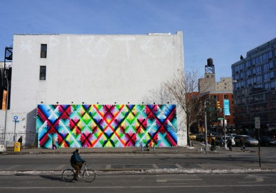 Maya Hayuk Bowery Houston Mural completed AM 06