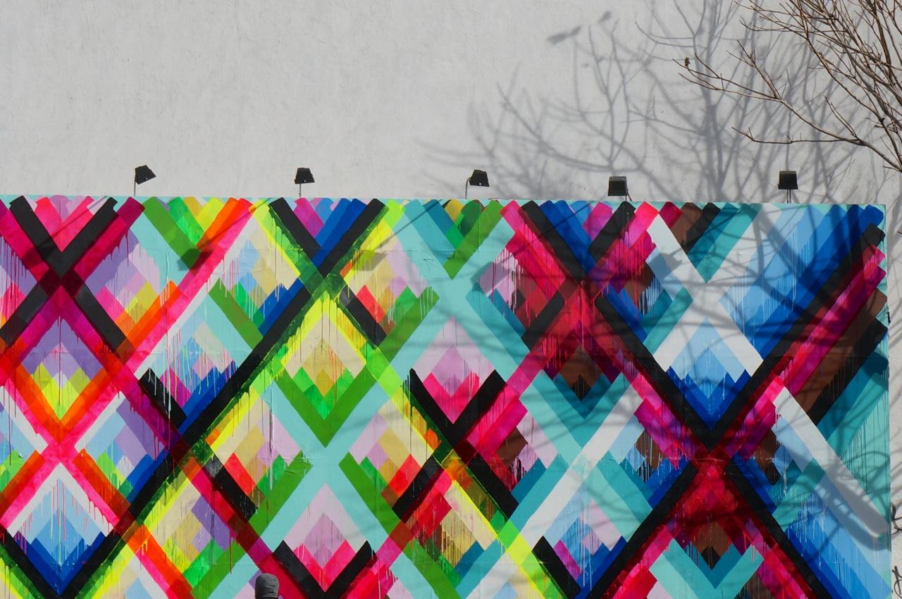 Maya Hayuk Bowery Houston Mural completed AM 04