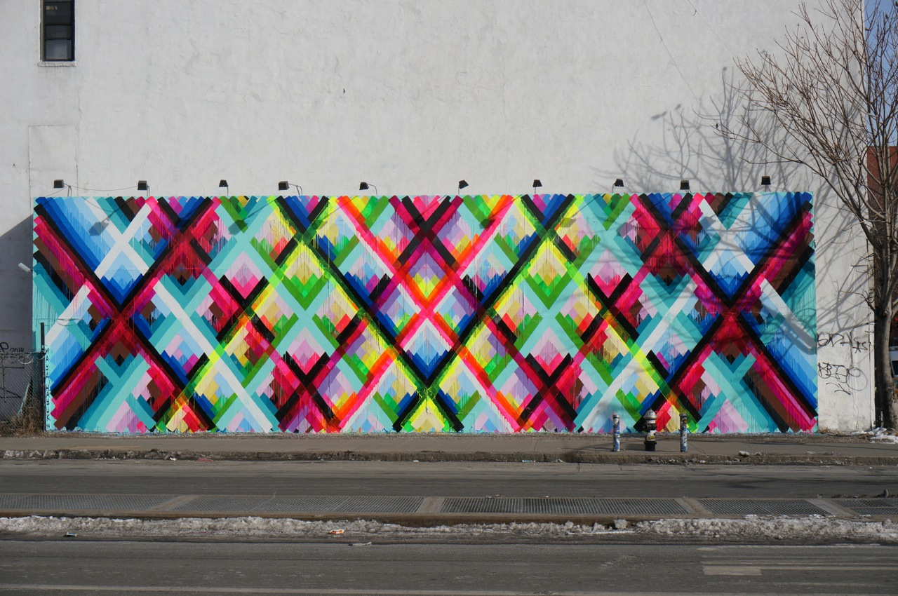 Maya Hayuk Bowery Houston Mural completed AM 04