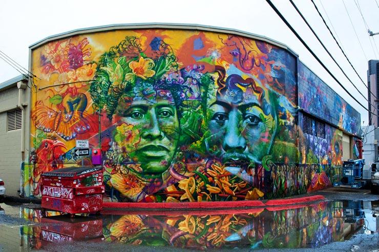 Gaia, Solomon Enos, and Prime - photo by Martha Cooper (via Brooklyn Street Art).