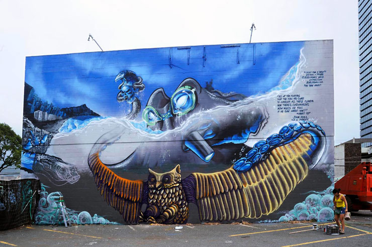 Yoshi & Estria - photo by Martha Cooper (via Brooklyn Street Art).