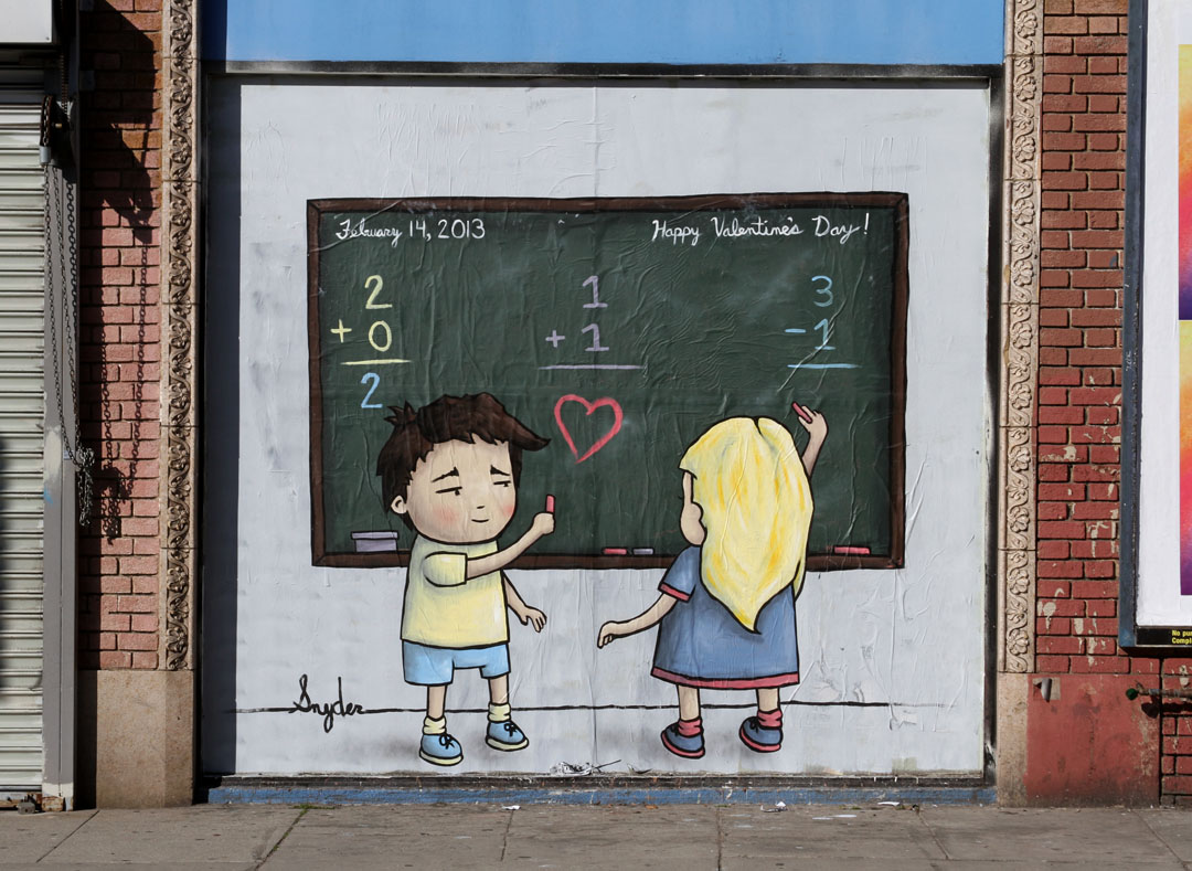 "Snyder - ""Doodle's Valentine"" in Los Angeles."