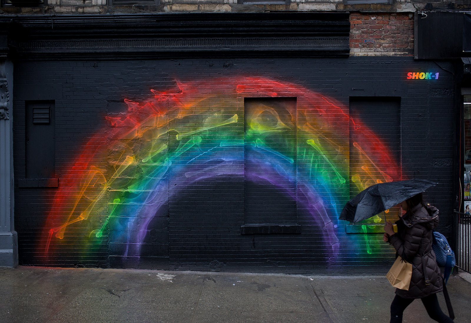 "Shok-1 - ""X-Rainbow (Arc)"" in Little Italy, Manhattan for the L.I.S.A project."