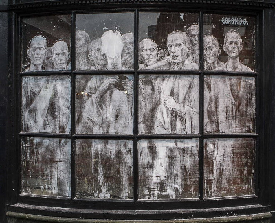 "Borondo - ""Scratching"" in London, UK. Photography by Fabiano Caputo."