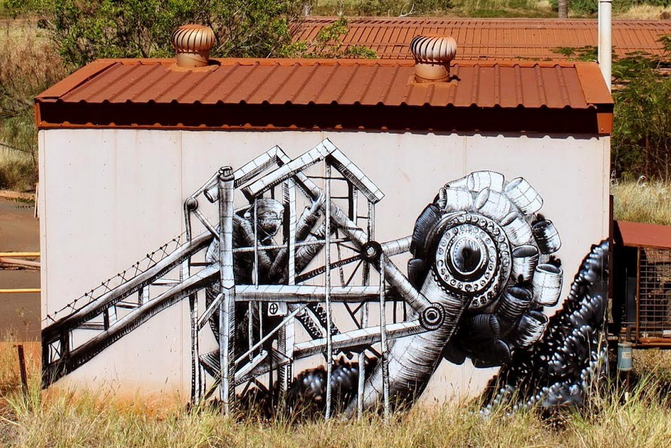 Phlegm in Port Hedland, Australia. Photography by Brendan Hutchens.