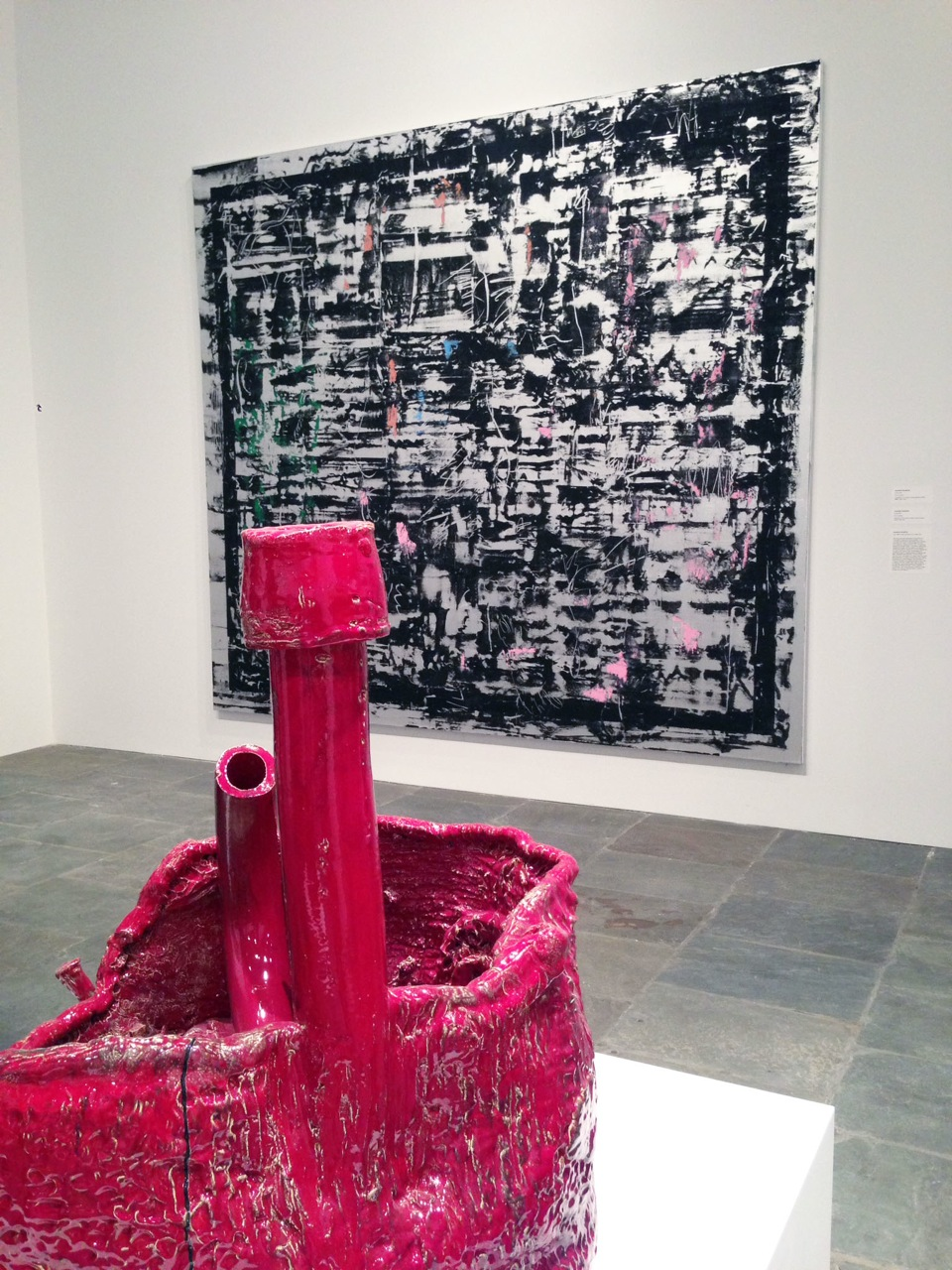 Sterling Ruby (foreground) and Jacqueline Humphries (background) (curated by Michelle Grabner)