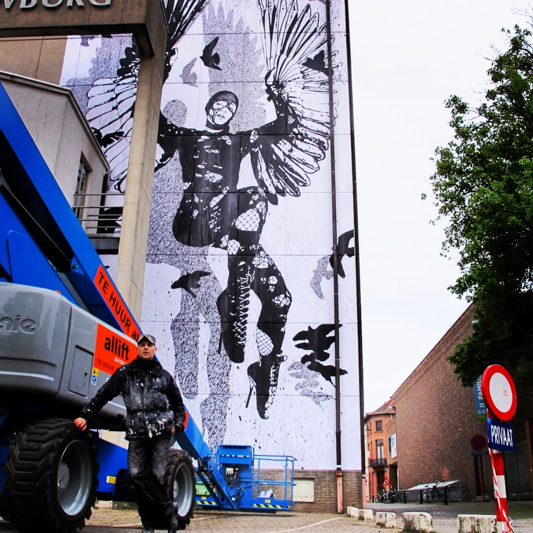 WK Interact Belgium mural AM 3
