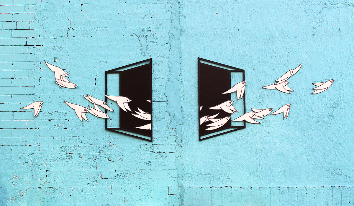 "Aakash Nihalani x Know Hope - ""Uncornered"" in Brooklyn."