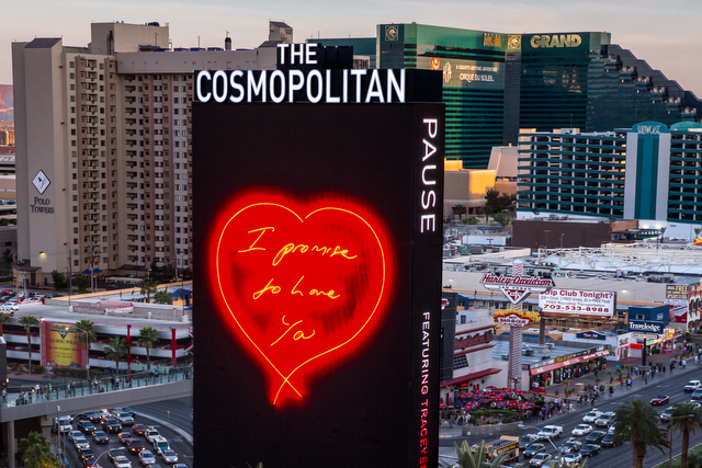 Tracey Emin S Work On Display At The Cosmopolitan Hotel Las Vegas Arrested Motion