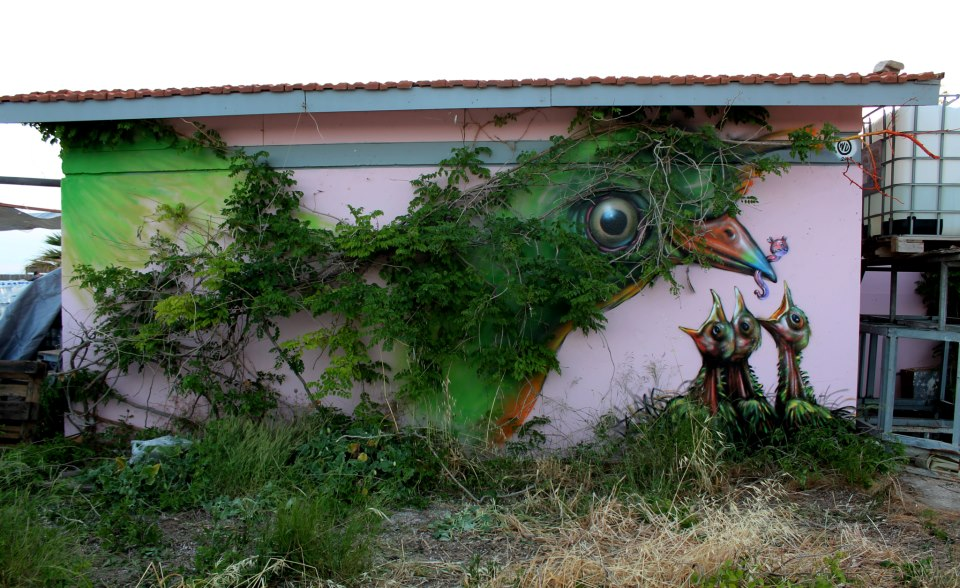 Wild Drawing in Athens, Greece. Photo via Street Art Utopia.