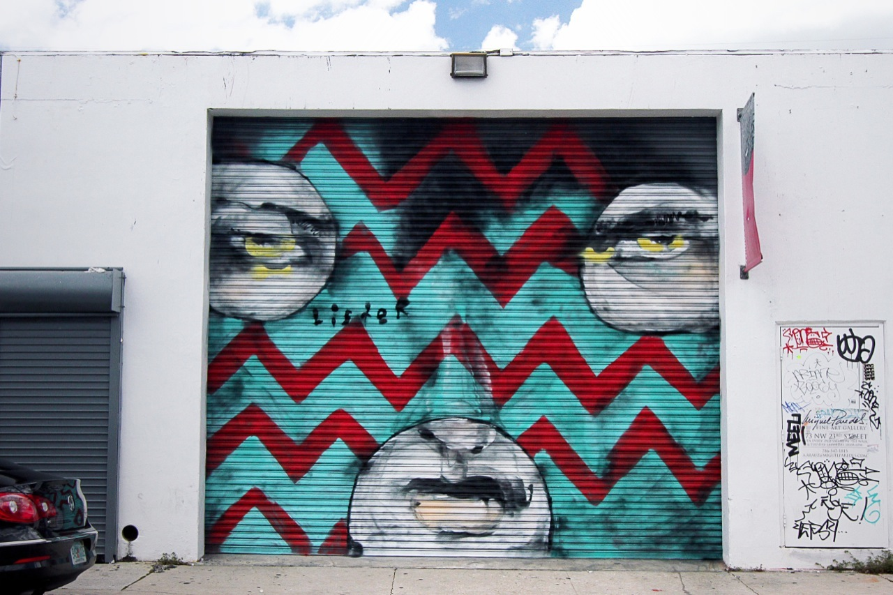 Anthony Lister in Miami. Photo by Parcialmente Nublada via StreetArtNews.