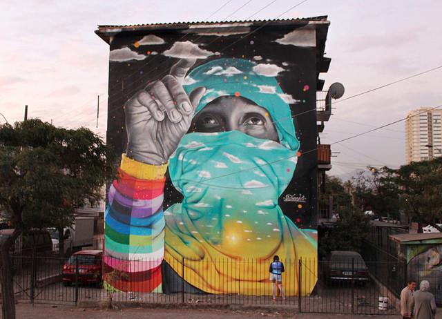 Dasic Fernandez in San Miguel, Chile. Via Hi-Fructose.