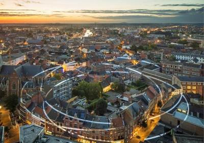 Felice Varini - Hasselt, Belgium (via StreetArtNews.net)